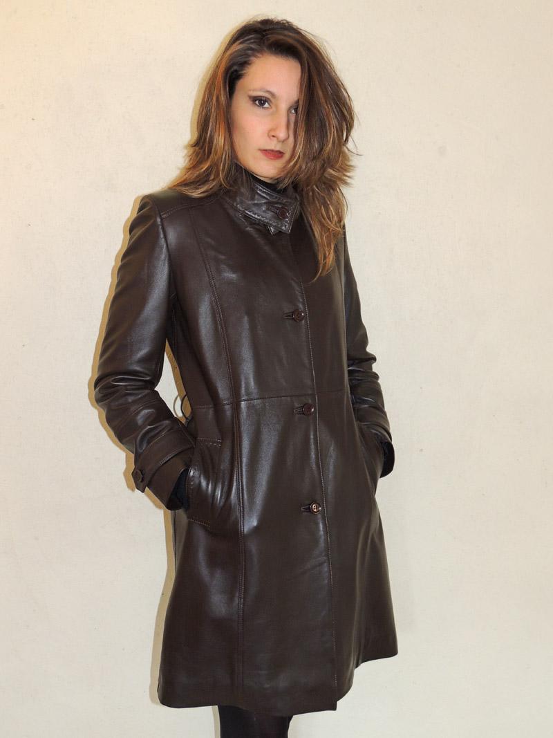 5a2d186a07c485 3 4 en cuir marron style trench avec ceinture pour femme