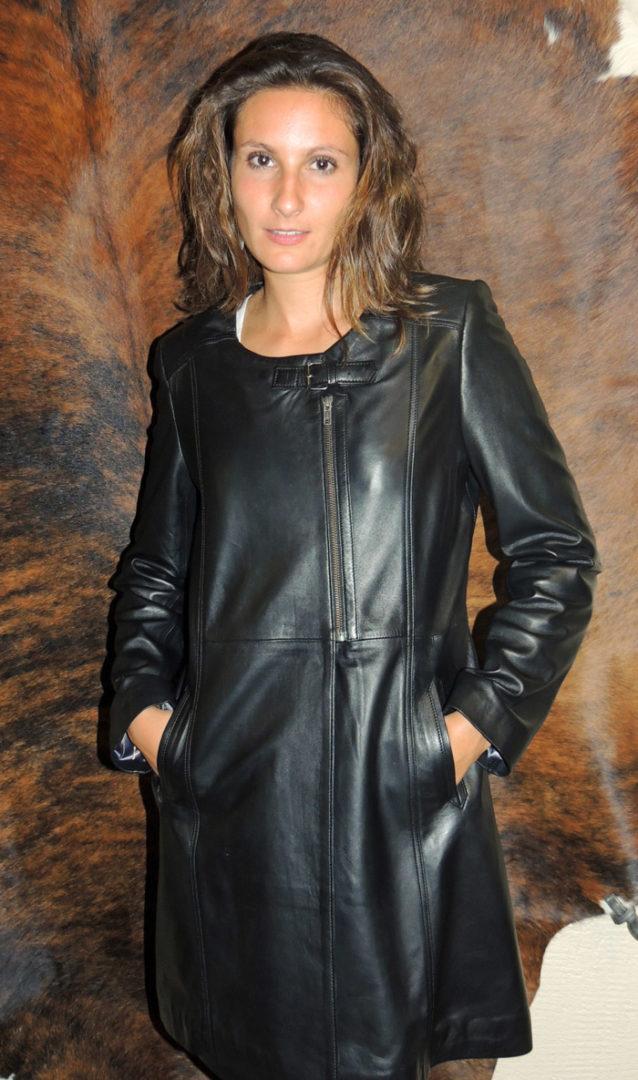 Manteau en cuir agneau pour femme - Itinérance Cuir - Vêtements cuir ... 3e8515f8b02