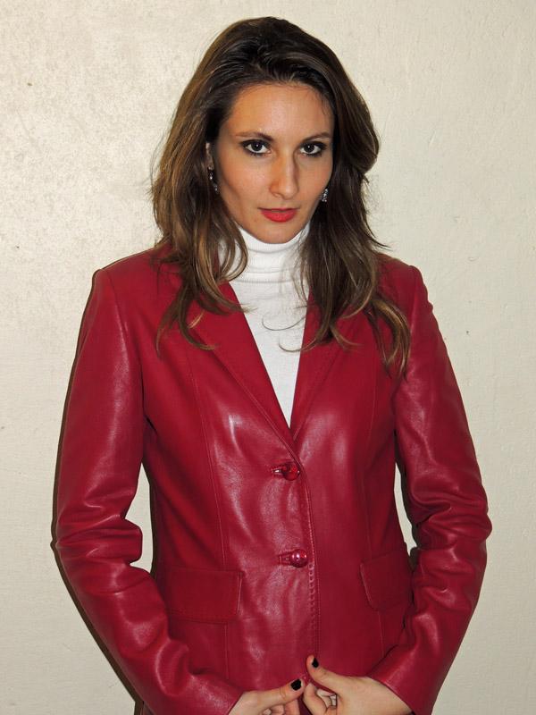 Veste cuir rouge hermes – Vestes élégantes populaires