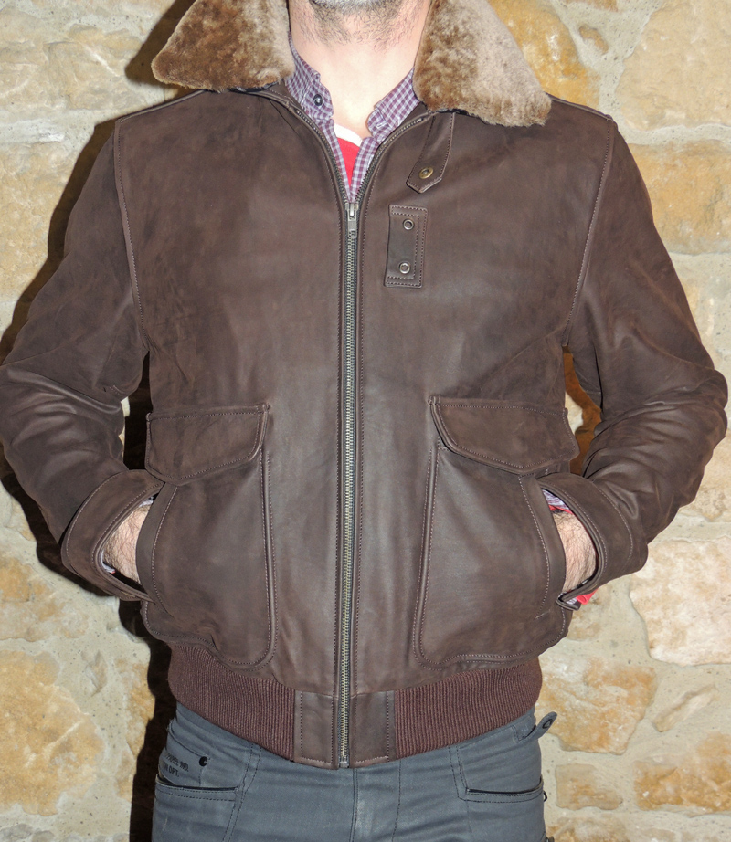 blouson aviateur cuir vachette - Itinérance Cuir - Vêtements cuir en ... c50d545054a