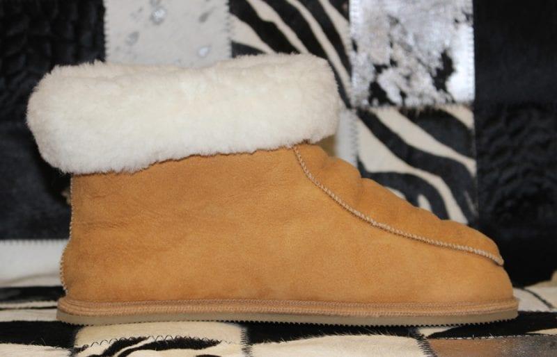 chausson mouton pour l'hiver