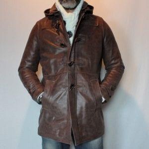 Veste cuir 3 4 pour homme