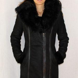 41d4f69fa945d4 3 4 manteau en peau retournée pour femme - Itinérance Cuir ...