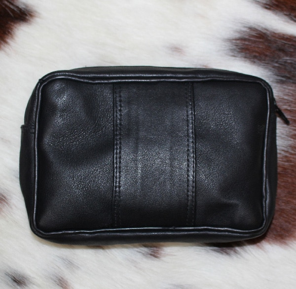 Pochette ceinture en cuir agneau noir - Itinérance Cuir - Vêtements ... 44fd210acc3