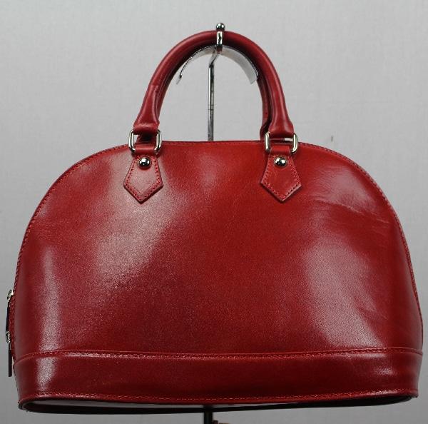 f135712c00ad0 Sac à main en cuir vachette rouge - Itinérance Cuir - Vêtements cuir ...