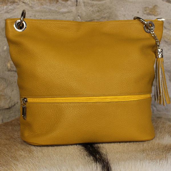 738a534d3a023 sac à main en cuir jaune - Itinérance Cuir - Vêtements cuir en ...