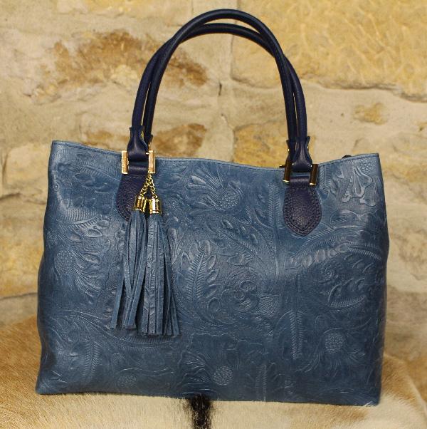 742aae306286b sac à main en cuir bleu - Itinérance Cuir - Vêtements cuir en ...
