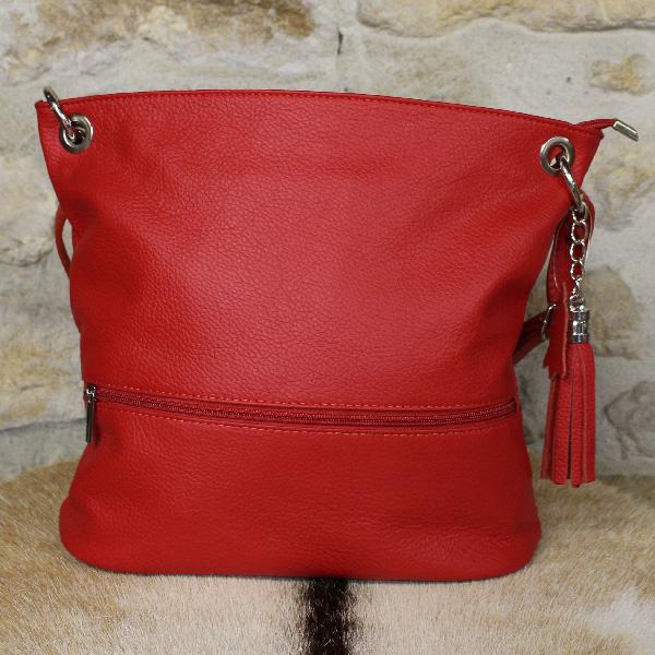 sac à main en cuir rouge