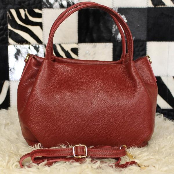 ad949a3397 Sac à main en cuir rouge bordeaux - Itinérance Cuir - Vêtements cuir ...