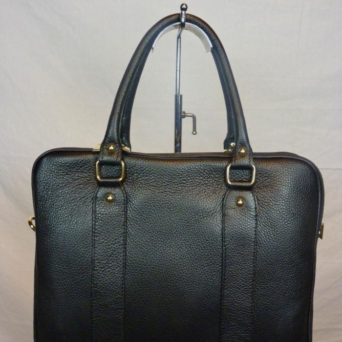 c016926f51 Sac à main en cuir noir avec 3 compartiments